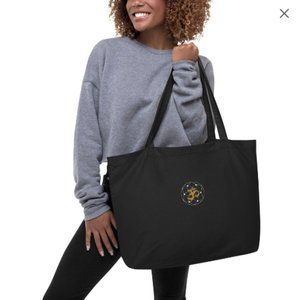 New OM Large organic Mantra tote bag